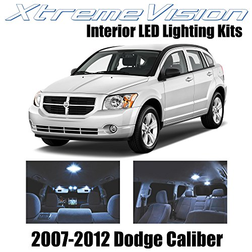 XtremeVision Interior LED for Dodge Caliber 2007-2012 (6 Pieces) Cool White Interior LED Kit + Installation Tool