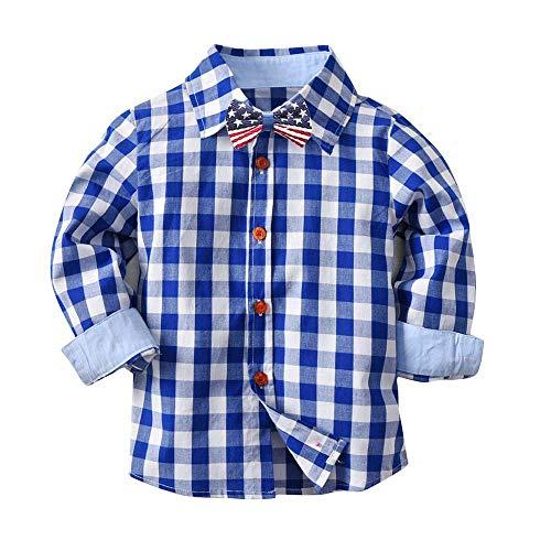 Gentleman Kinderanzug Allence Baby Mädchen Jungen Strampler Hemd-Body mit Kariert Freizeithemd Neugeborene Body Casual Party Overall