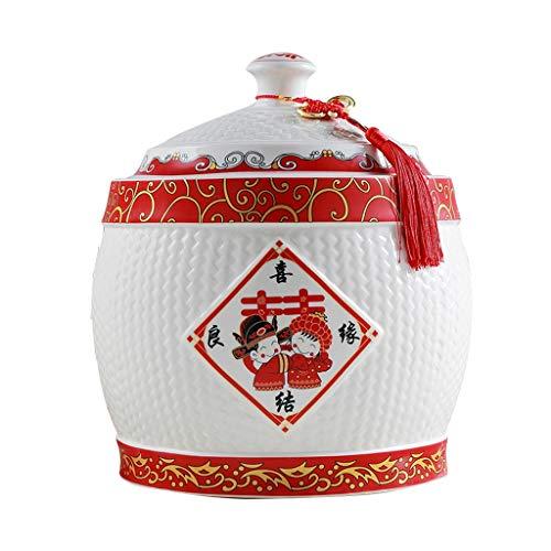 Céréales conteneur Boîte De Rangement Pour Cylindre De Riz Boîte À Farine Avec Joint De Couvercle Réservoir De Stockage Anti-poussière Insecte Résistant À L'humidité Aliments contenants