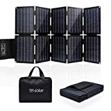 TP-solar 60W 19V Faltbares Solar Ladegerät Tragbar Solarpanel mit Dual 5V USB+19V DC Ausgang für Powerstation iPhone Huawei, 12V Batterie für Boote RV Auto