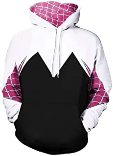 CosplayLife Superhero Unisex Gwen Stacy Iron Spider Hoodie Sweatshirt Kangaroo Pocket | Unisex for Men Women and Kids