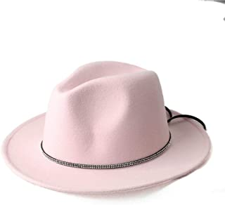 SHENTIANWEI Men Women Winter Fedora Hat Wide Brim Jazz Hat Panama Jazz Hat Outdoor Travel Church Hat Size 56-58CM