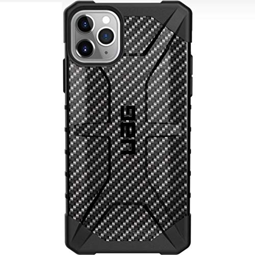 Limited Edition Customized Prints by Ego Tactical Over a UAG Urban Armor Gear Case for Apple iPhone 11 Pro Max - Black Carbon Fiber