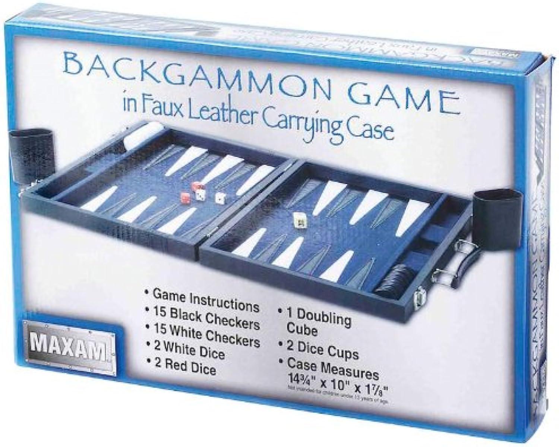Maxam SPBKGMN Maxam Backgammon Game In Lth Case