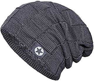 Senker Beanie Hat Winter Warm Cap Soft Thick Slouchy Knit Hats for Men and Women