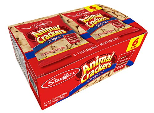 Stauffers Original Animal Crackers, 12 Snack Packs, 1.5 Oz. Each