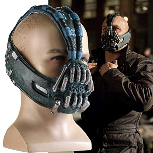TYTOGE Bane Mask Dark Knight Aufstieg Batman Latex Cosplay Helm Kostüm Masken Zubehör für Halloween