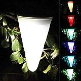XCXDX Konischer Kronleuchter Im 4er-Pack, Solarbetriebenes Windspiel-Licht, Bunte wasserdichte LED-Garten-Dekorationsleuchten