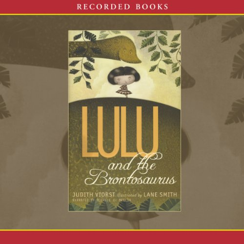 Lulu and the Brontosaurus audiobook cover art