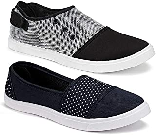 Axter Women's Casual Sneakers Loafers (Set of 2 Pair)