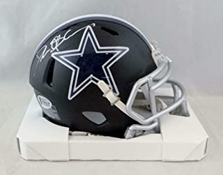 Signed Deion Sanders Mini Helmet - Flat Black Beckett Auth *White - Beckett Authentication - Autographed NFL Mini Helmets