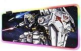 YEE Mouse Pads Anime Gundam Computer Keyboard Mat RGB Robot LED Glowing Gaming...