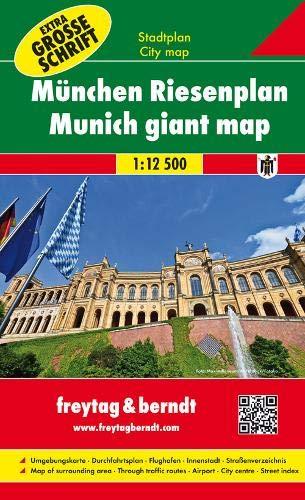 München Riesenplan, Buchplan 1:12.500: Stadtplan mit extra großer Schrift, Spiralbindung - Maßstab 1:12.500 (freytag & berndt Stadtpläne)