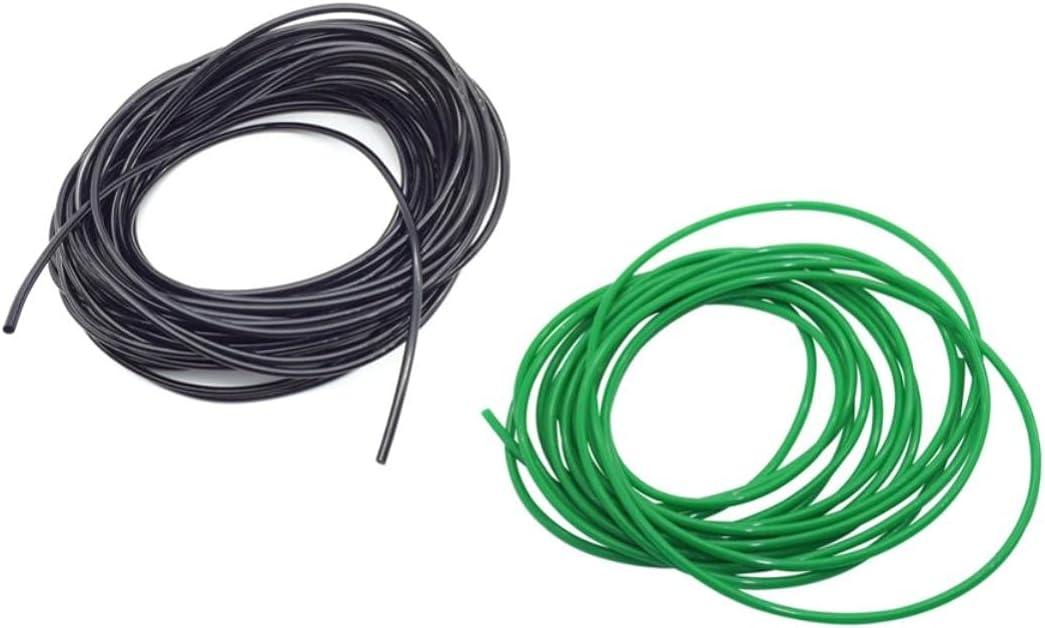Capilar de 10 m 3/5 mm para sistema de riego por goteo, riego de invernadero de jard¨ªn, suministros de riego, accesorio de tuber¨ªa, verde claro, 10 m