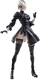 Nier Automata Bring Arts: 2B & Machine Lifeform Action Figure - Including Weapons and A Variety of Accessories - High 15CM