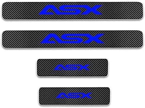 4 Pezzi Fibra di Carbonio Auto Battitacco Soglia Della Porta per Mitsubishi ASX, Pedale Benvenuto, Anti Graffio Pedali, Antiscivolo Batticalcagno