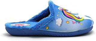 ALCALDE - Zapatillas Pantuflas de IR por casa con Dibujo de Unicornio, Chinela Destalonada, Suela de Goma, para: Niña