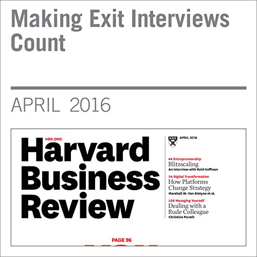 Making Exit Interviews Count copertina
