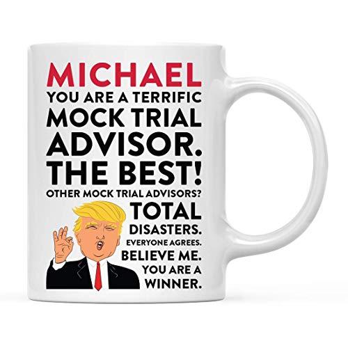 Regalo personalizado divertido de la taza del té del café del presidente Donald Trump, usted es un asesor de prueba simulado fabuloso, paquete de 1, compañero de trabajo personalizado amigo él ella, c