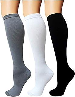 bd9f98ce4a54 3 coppie Calze a compressione per uomo e donna, calze a compressione  graduata 15-