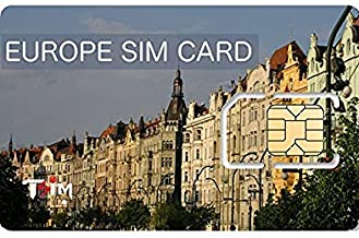 TSIM Unlimited Europe SIM Card Call USA/CAN/Europe - 30 Days - Unlimited Data - 53 Countries - UK + Multiple Local Phone Numbers (Upto 12GB & 360min)
