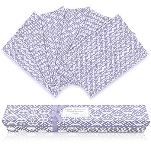 LA BELLEFÉE Scented Drawer Liners, 6-Sheets Scent Paper Liner (English Lavender)