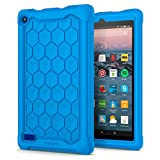 Spigen Fire 7 2017 Coque, Hexa Guard conçue pour Amazon Fire 7 2017 Coque, Amazon Fire 7 2017 Case Cover - Bleu