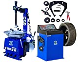 CHIEN RONG 1.5 HP Tire Machine Tire Changer Wheel Changers Machine Balancer Rim Clamp Combo 560-680 12'-21' / 12 Month Warranty