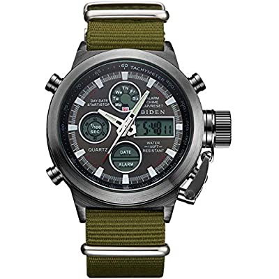 Amazon - Save 80%: Mens Watches Black Sports Military Digital Gents Watch Chronograph Waterproof…