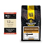 Christopher Bean Coffee - Pecan Sticky Buns Flavored Coffee, (Decaf Ground) 100% Arabica, No Sugar, No Fats, Made with Non-GMO Flavorings, 12-Ounce Bag of Decaf Ground coffee