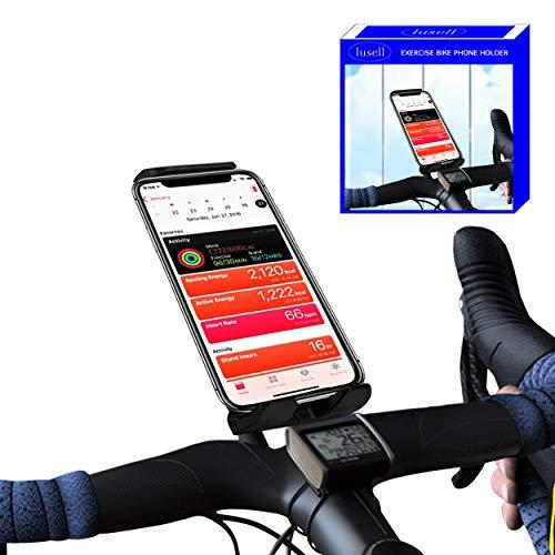 Soporte movil Bicicleta estatica Universal Compatible con Todos los tamaños de telefonos moviles y manillares Soporte movil Bicicletas estaticas Bicicleta Spinning eliptica Indoor Bici estatica