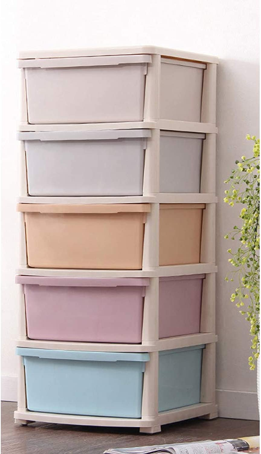 Storage case Storage Box Chest Side Box Drawer Slim Hanger Caster Storage Wardrobe Toy Accessories Large Capacity Clothing Handy Goods 5 Stages 34 Wide ice Cream