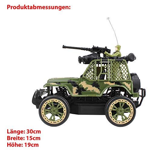 HSP Himoto RC Ferngesteuerter Off-Road Militär Army Truck Pickup, Auto, Komplett-Set inkl. Fernsteuerung