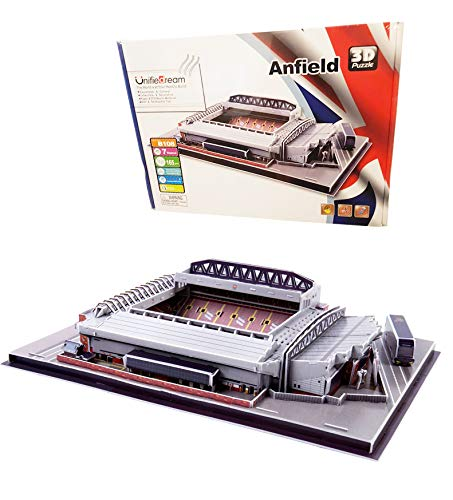 WTUGAIOHG Sportstadion 3D Puzzle, Anfield Stadium 3D Puzzle