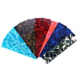 ROSENICE 15pcs Guitar Pick Punch Sheets Celluloid Guitar Pick Strips(Random style, color and thickness)