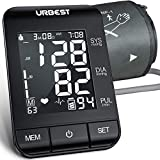 URBEST Blood Pressure Monitor - Accurate Digital bp Machine Large Upper Arm Blood Pressure Cuff with Large Backlit Display,2-Users 180 Memory Automatic High Blood Pressure Detector for Home