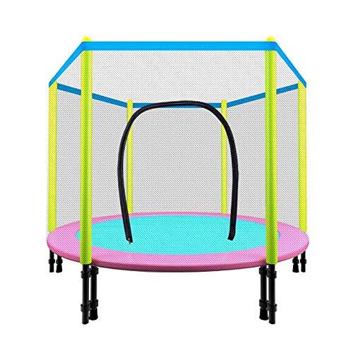 Lzww Kids Junior Trampolines with Safety Net Enclosure Surround 55 Inch