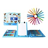 H & B Kids Art Supplies 208-Piece for Painting & Drawing, Art Set Case, Portable Art Box, Oil Pastels,...