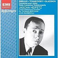 Sibelius / Tchaikovsky / Glazunov, Violin Concertos: Jascha Heifetz by Jascha Heifetz (2004-01-01)