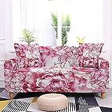 WXQY Funda de sofá con Estampado Floral Funda de sofá elástica con Todo Incluido Funda de protección de sofá en Forma de L Funda de sofá Moderna A10 3 plazas