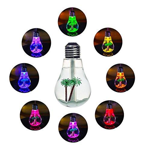 MORIO Lamp Shape Decorative Lights USB Air 7 Colors Diffuser Beatles...