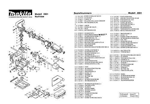 Makita 415253-2-0151 Bügelgriff, Original Ersatzteil 3901