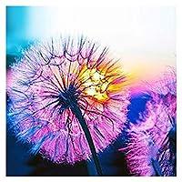 大人のためのタンポポDIY5Dダイヤモンド塗装キット、家の壁の装飾のためのドットフルドリルクリスタルラインストーン刺繡 (Color : E)