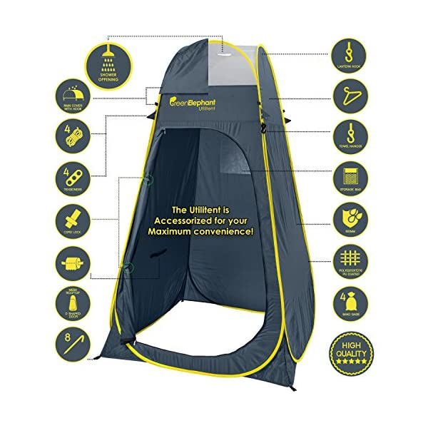 Green Elephant Pop Up Utilitent – Privacy Portable Camping, Biking, Toilet, Shower, Beach and Changing Room Extra Tall…