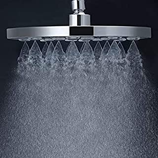 MARCOWARE High Density Mist Jet ABS Shower Head 9 Inches Without Arm, Chrome, Polished Finish