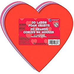 Easy Valentine's Day crafts for Girl Scouts-instead of traditional cards, have the girls write and put stickers and gems on this large foam heart