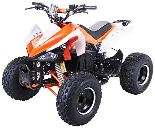 Kinder Elektro Quad S-14 Speedy 1000 Watt Miniquad Kinderfahrzeug Midiquad (Orange/Weiß)