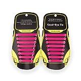 MAROL Elastische Silikon Schnürsenkel – Ohne Binden – Silikonschnürsenkel – Schnürsenkelersatz, Schleifenlose Schuhbänder – Gummischnürsenkel für alle Schuhe – Kinder & Erwachsene (Pink)