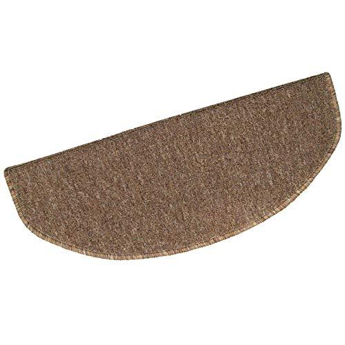 CEALEONE traptreden Tapijt met Skid Resistant Rubber Achterkant Binnen Houten Trappen Verwijderbare Stap Vloer Tapijten Set van 5 (9.5