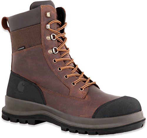 Carhartt Mens Detroit 8 Inch Rugged Flex Waterproof S3 Work Boot Construction Shoe, Dark Brown